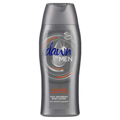 Dawn Body Lotion For Men Active 400ml (x2)