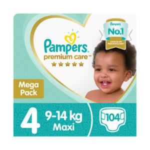 Pampers Premium Mega Pack Maxi (1 x 104's)