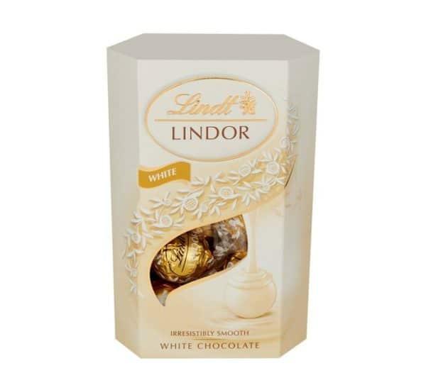 Lindt Cornet Truffles Box Chocolates White 200g