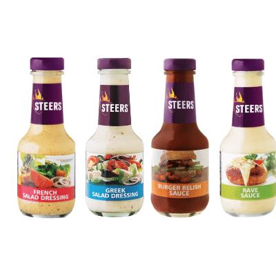 STEERS Sauce or Dressing (All variants) 375ml